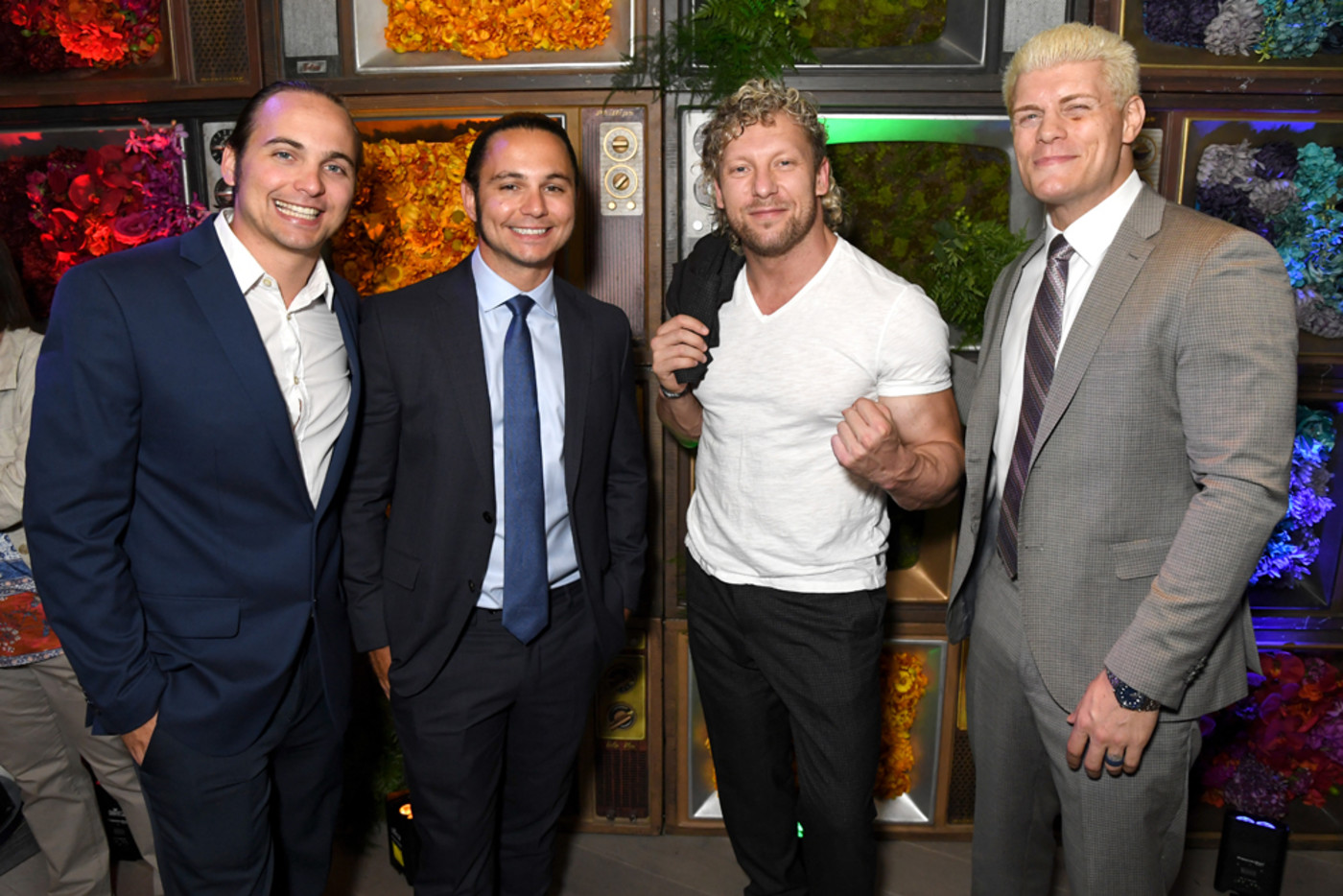 Nick Jackson, Matt Jackson, Kenny Omega and Cody Rhodes