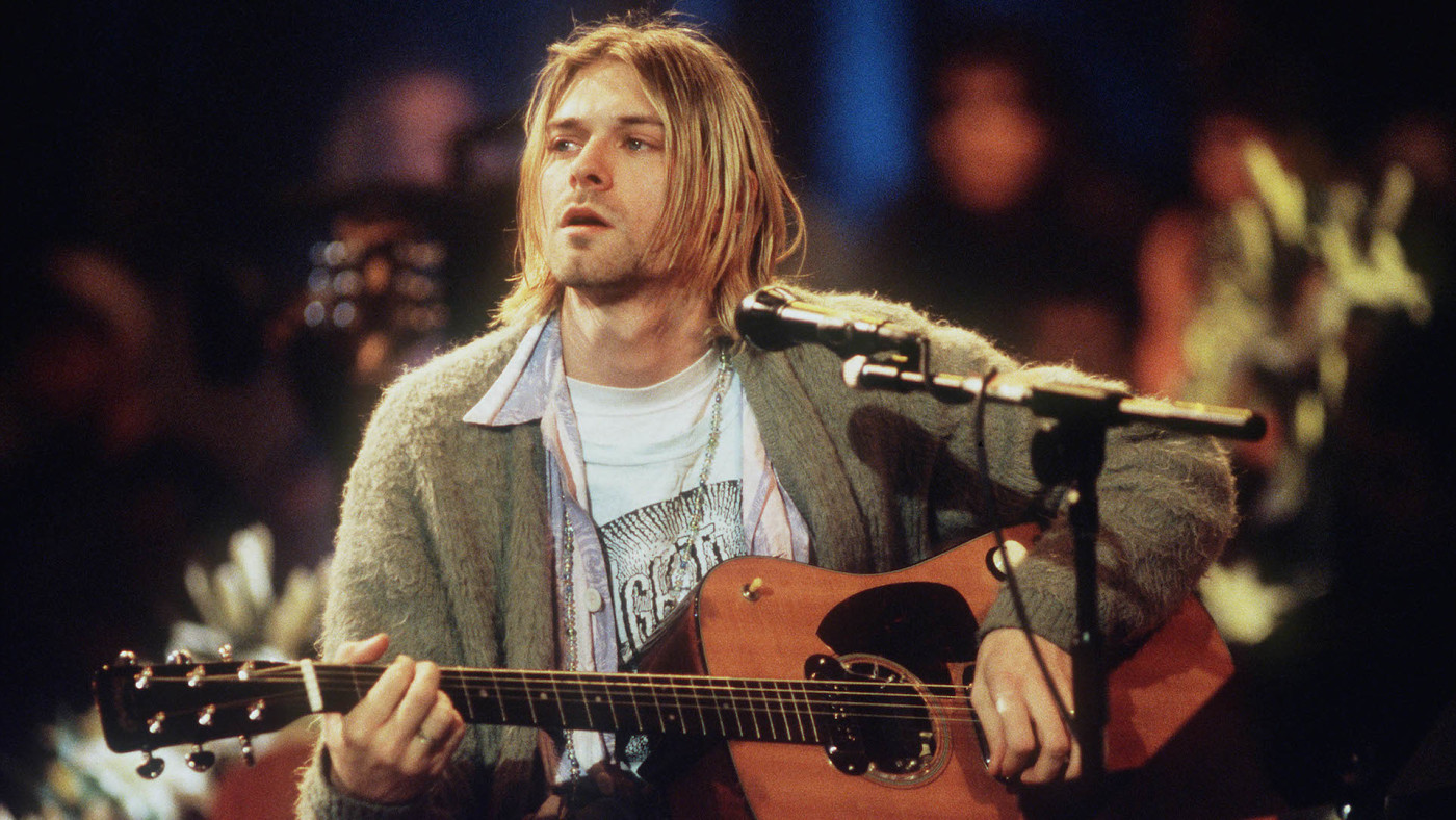 Kurt Cobain of Nirvana during the taping of MTV Unplugged.