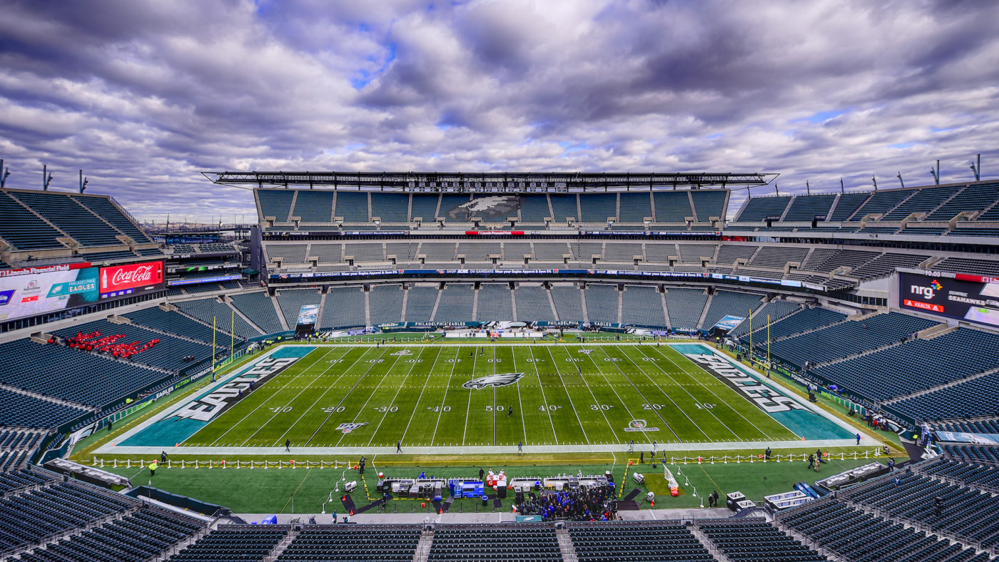 A general view prior to the NFC Wild Card Playoff game