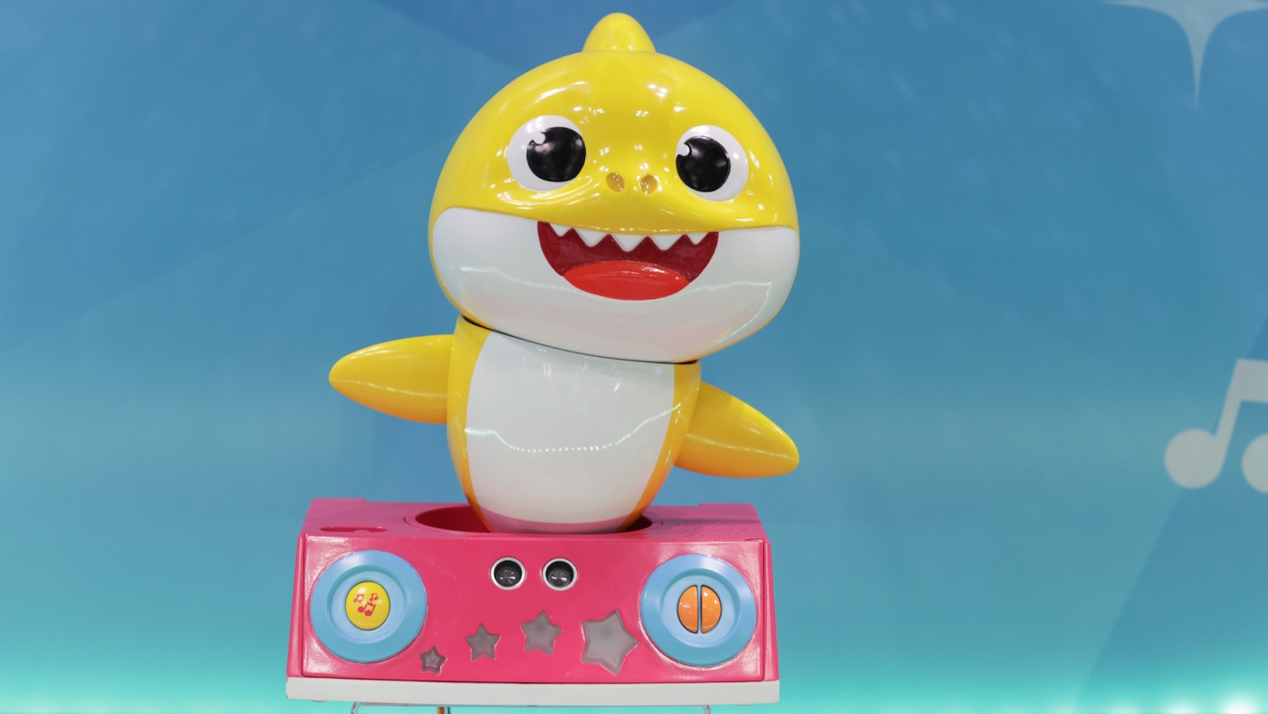 Baby Shark Toy from PinkFong on at 2020 Toy Fair New York City.