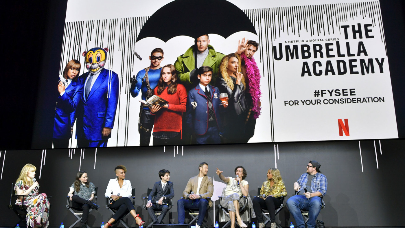 'The Umbrella Academy' cast does a Q&A.