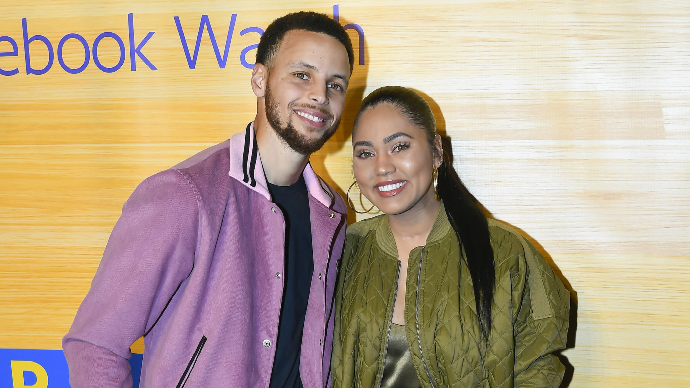 """Stephen Curry and Ayesha Curry attend the """"Stephen Vs The Game"""" Facebook Watch Preview."""