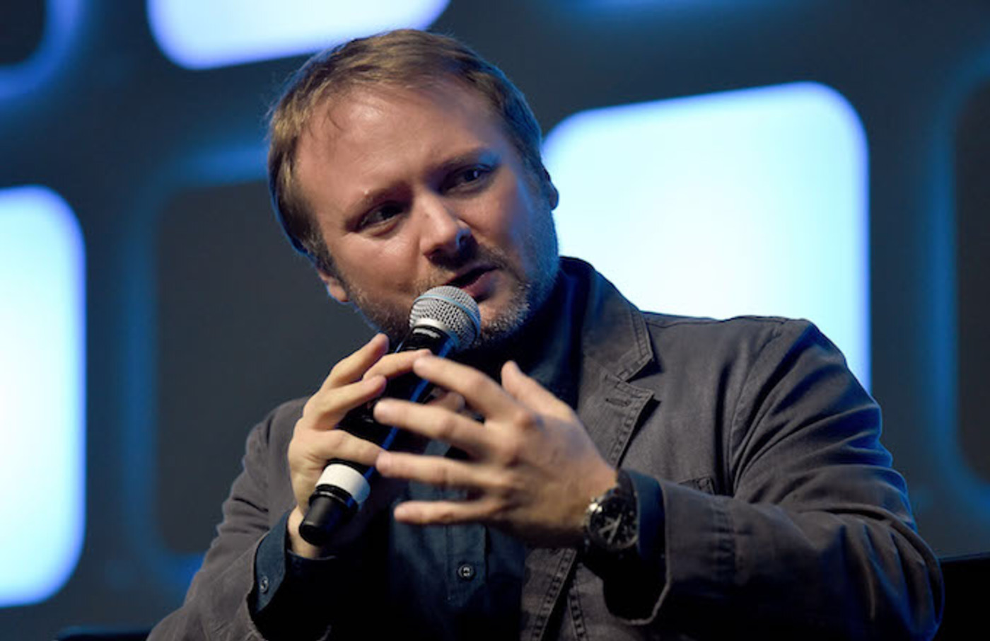 Rian Johnson discusses 'Star Wars'-related stuff.