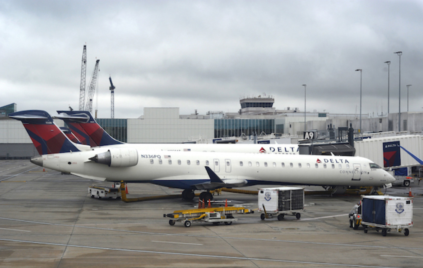 Delta Airlines at North Carolina airport