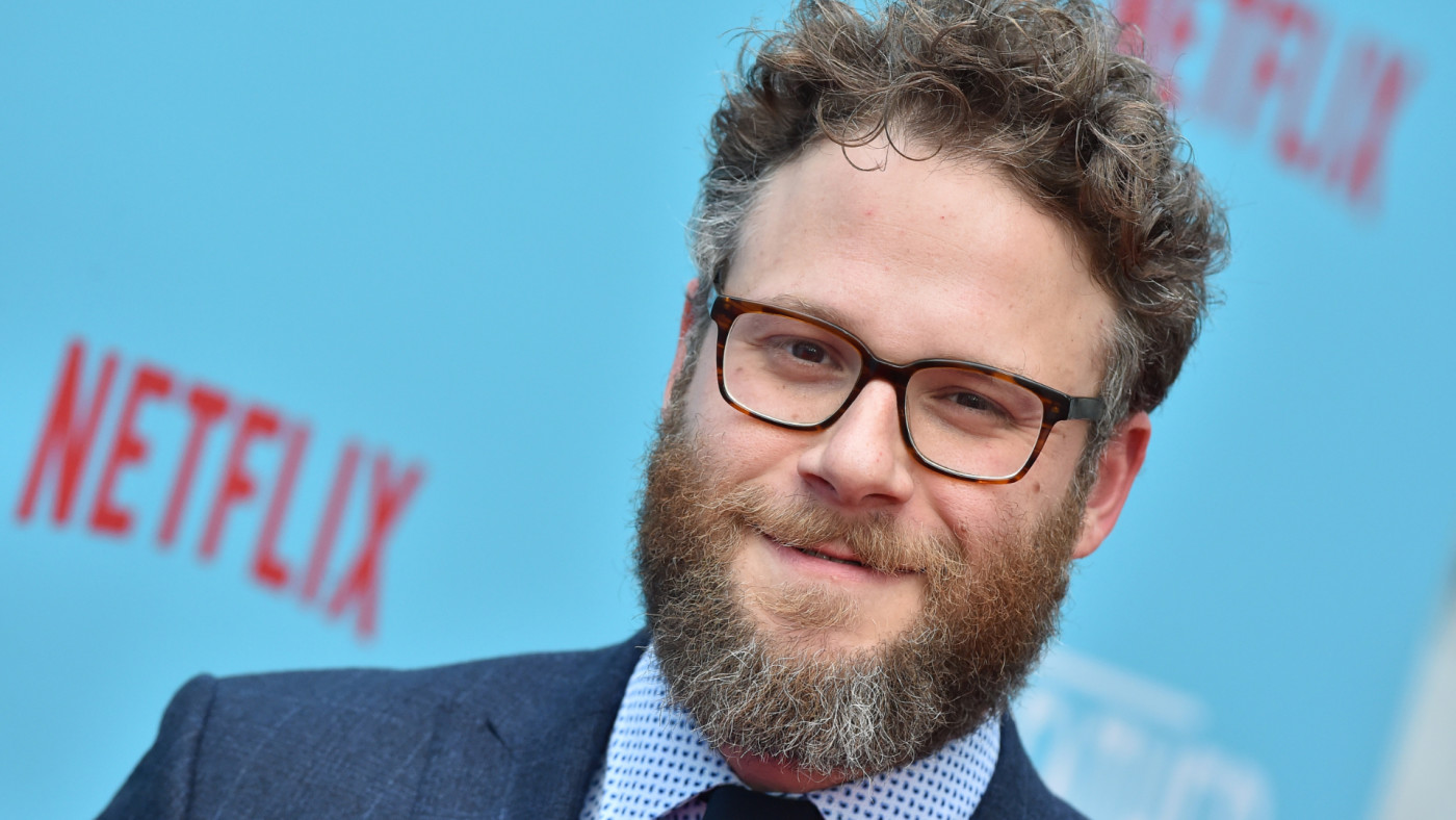 Seth Rogen arrives at the premiere of Netflix's 'Like Father.'