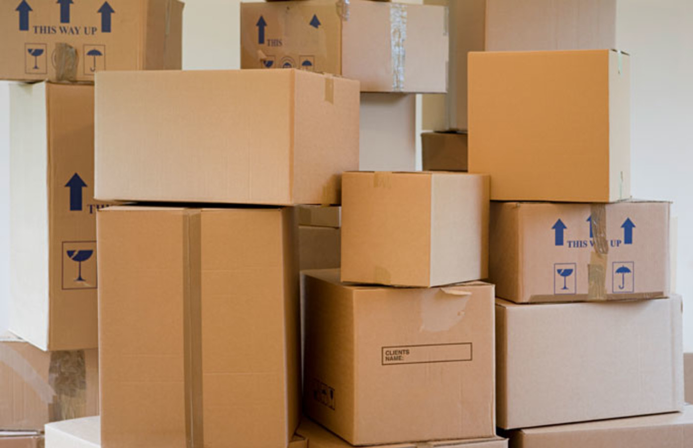 A stock image of moving boxes.