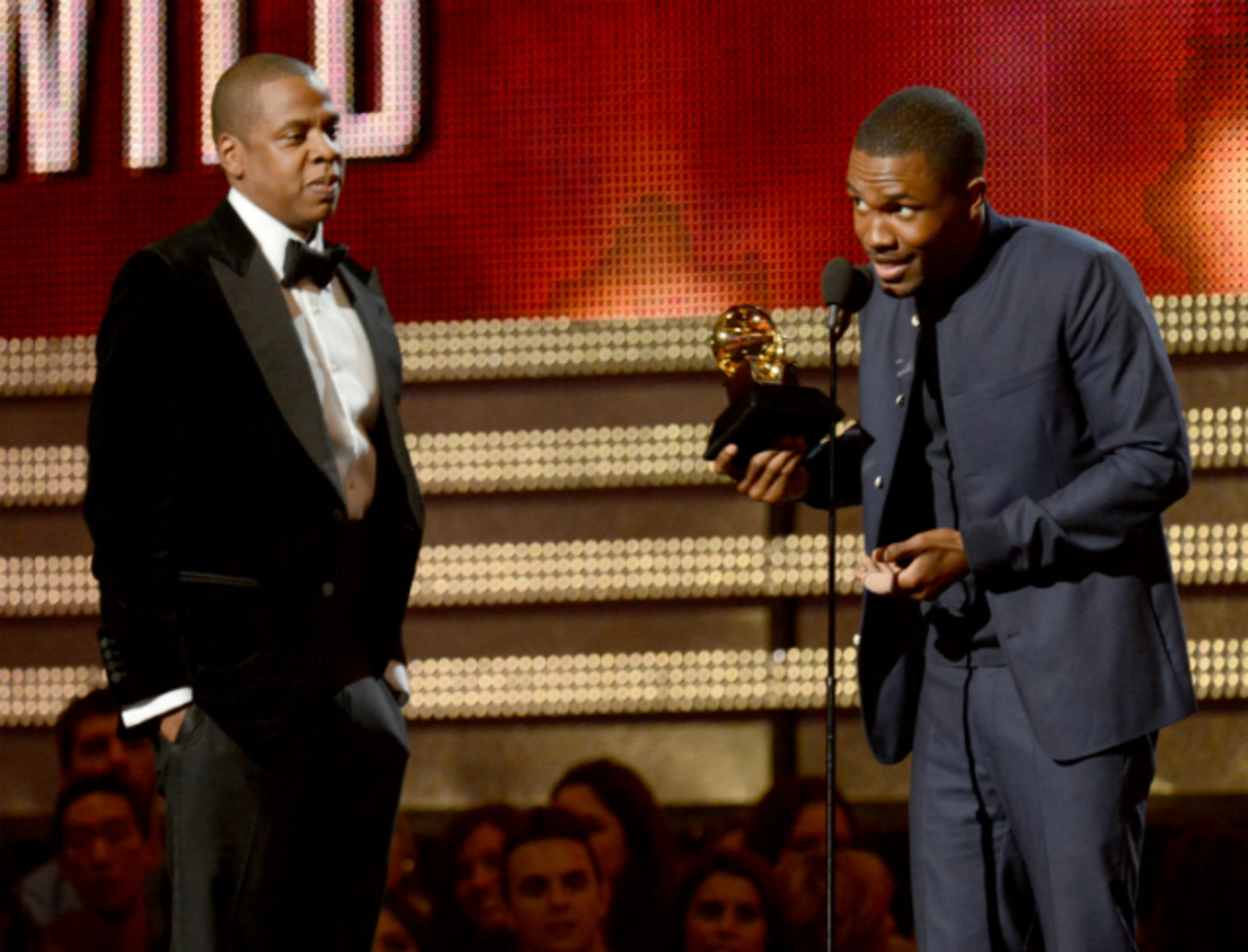 Jay Z and Frank Ocean at the 55th Grammy Awards