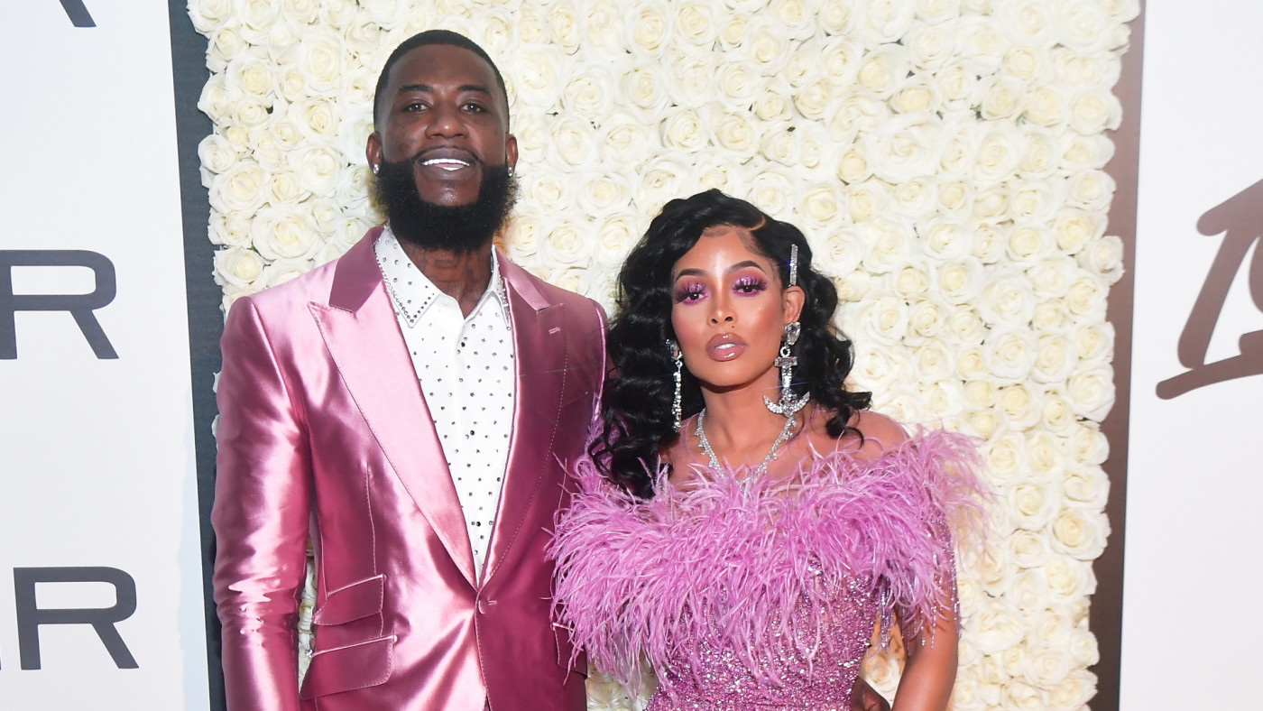 Gucci Mane and Keyshia Ka'oir attend Gucci Mane Black Tie Gala.