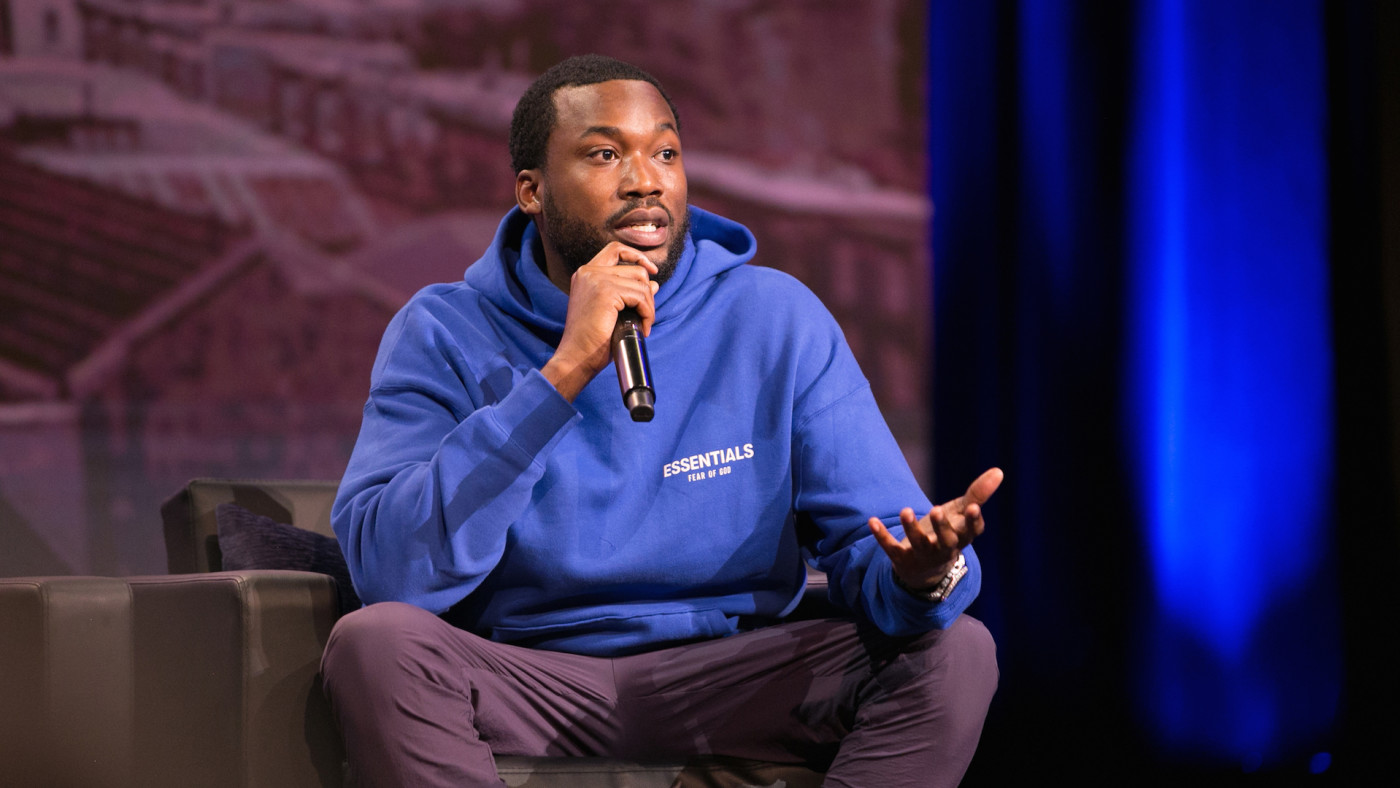 Meek Mill onstage during Criminal Justice Town Hall