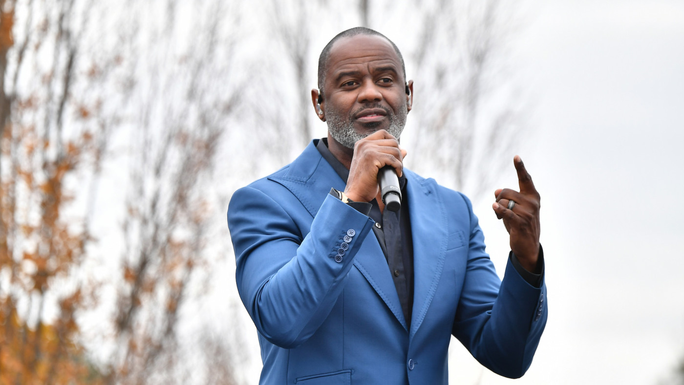 Brian McKnight performs onstage during Souls To The Polls Drive-In Rally