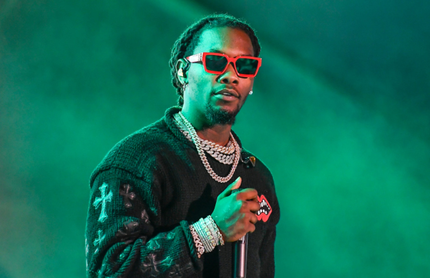 Rapper Offset of Migos performs at the 2019 Rolling Loud Music Festival