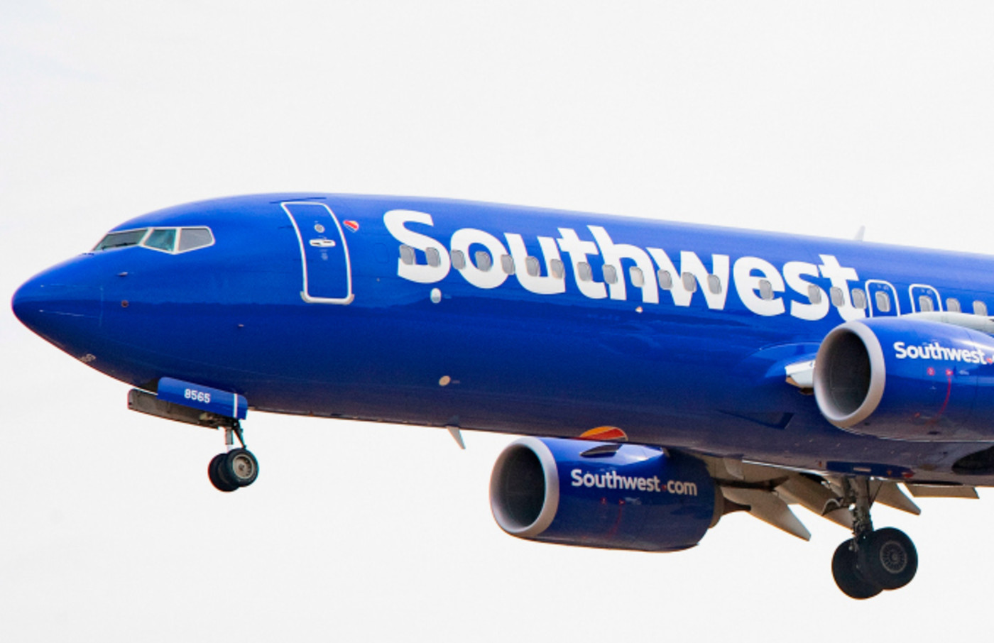 A Boeing 737 800 flown by Southwest Airlines