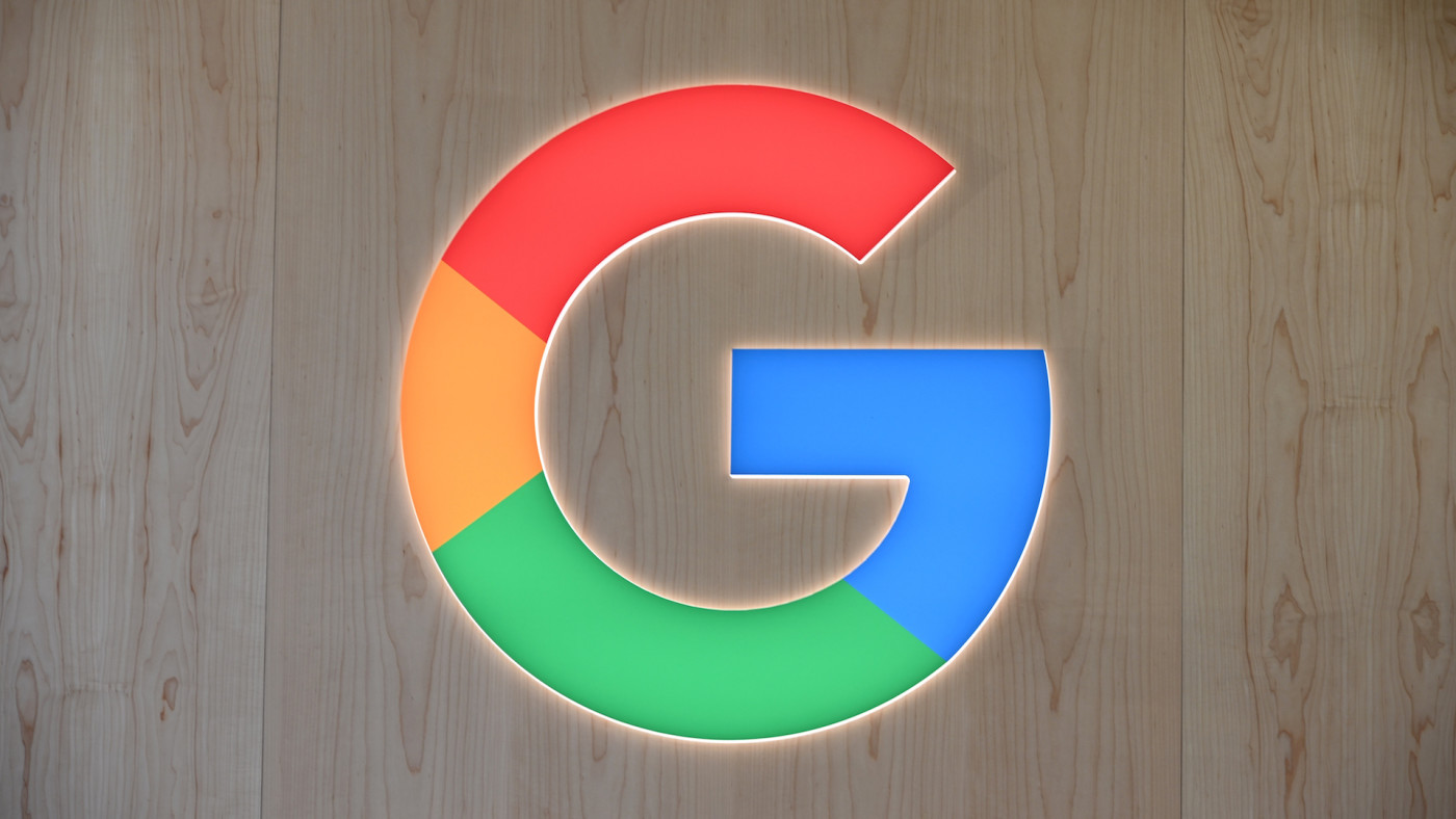 Google logo is seen at the 2020 Consumer Electronics Show (CES) in Las Vegas.
