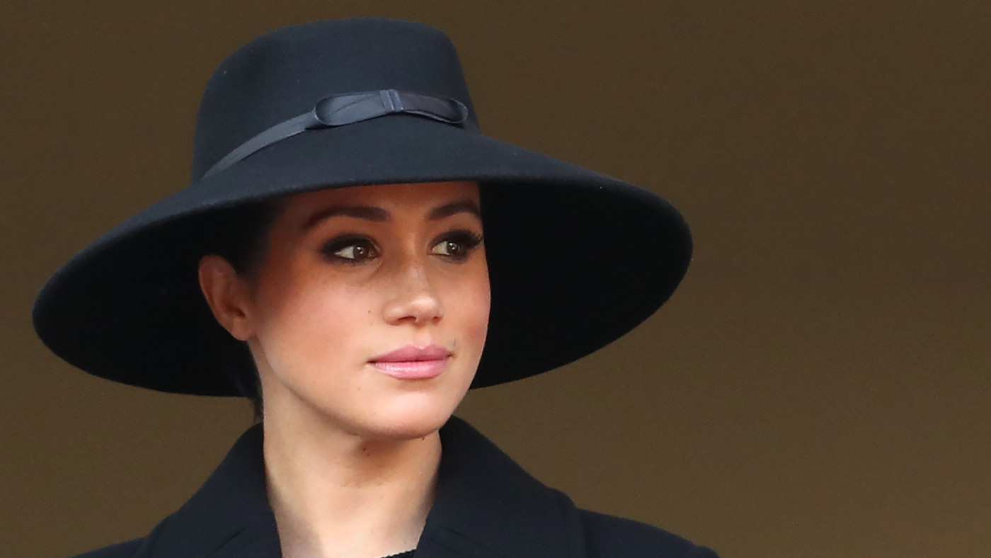 Meghan, Duchess of Sussex attends the annual Remembrance Sunday memorial