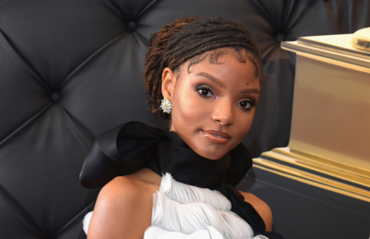 Halle Bailey of Chloe X Halle attends the 61st Annual GRAMMY Awards.
