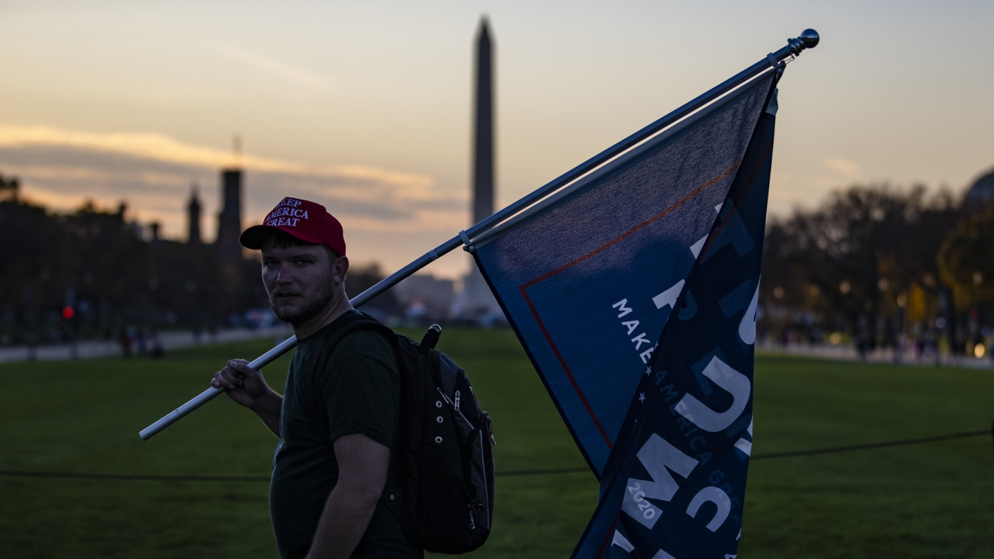 Trump supporter in DC