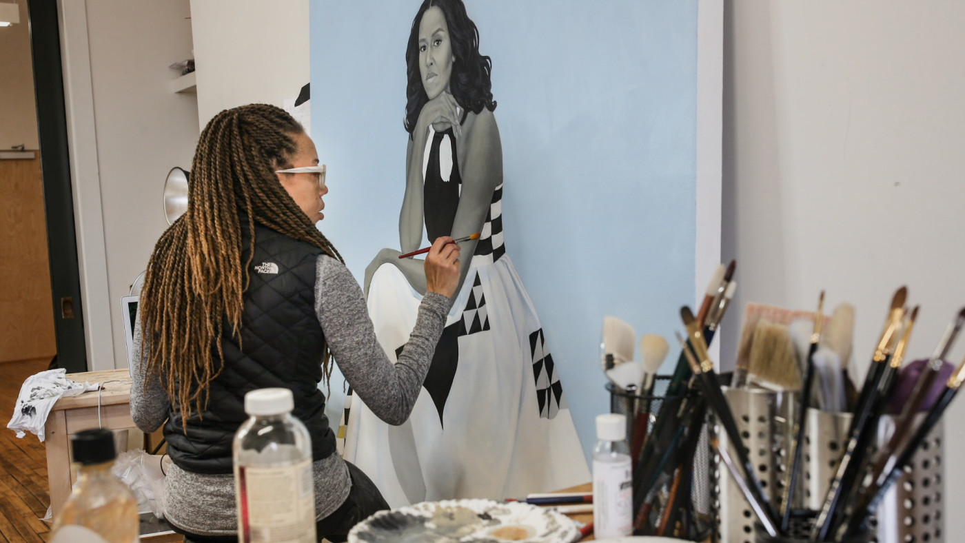 Amy Sherald paints Michelle Obama in HBO's 'Black Art: In the Absence of Light'