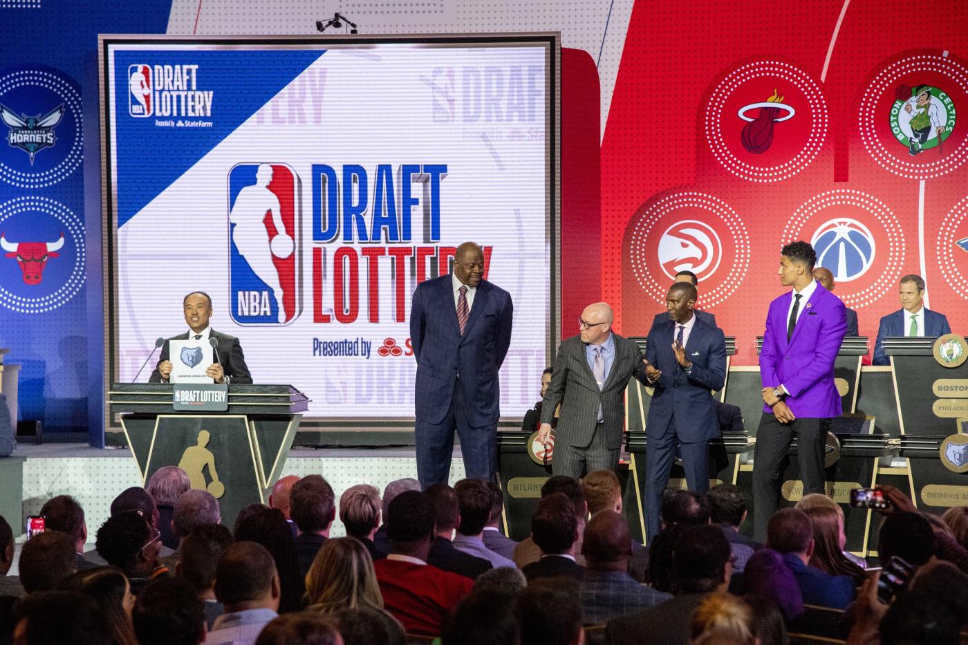 Patrick Ewing NBA Draft Lottery 2019 David Griffin