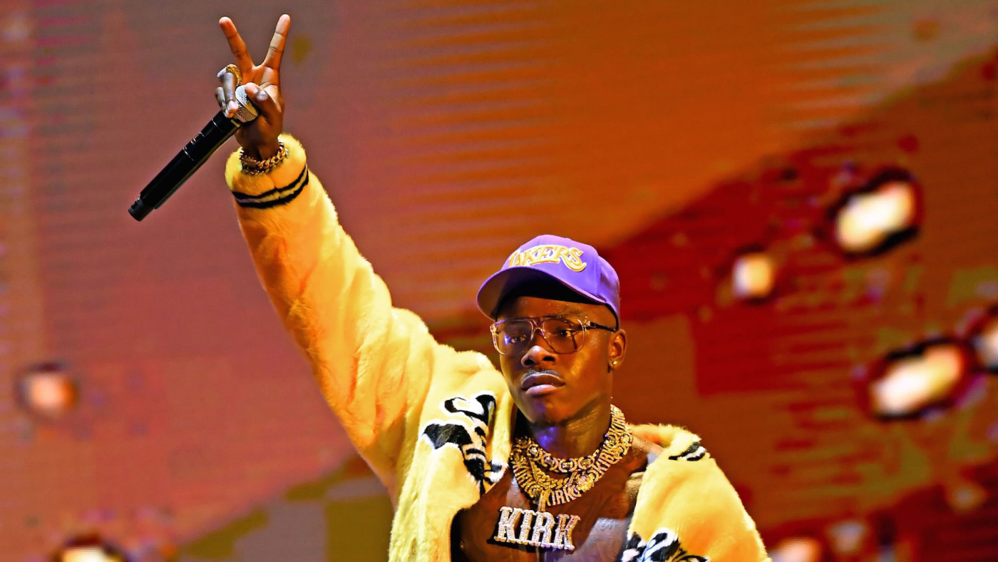 DaBaby performs onstage during the 2020 MTV Video Music Awards