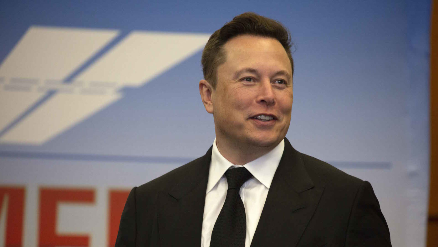 Elon Musk, founder and CEO of SpaceX, participates in a press conference
