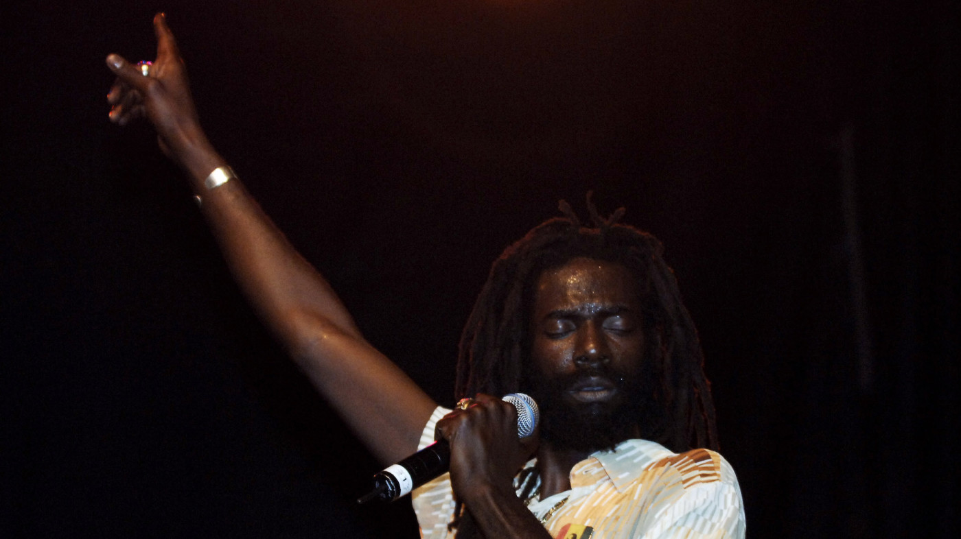 Buju Banton during Guinness 8th Annual Reggae CariFest