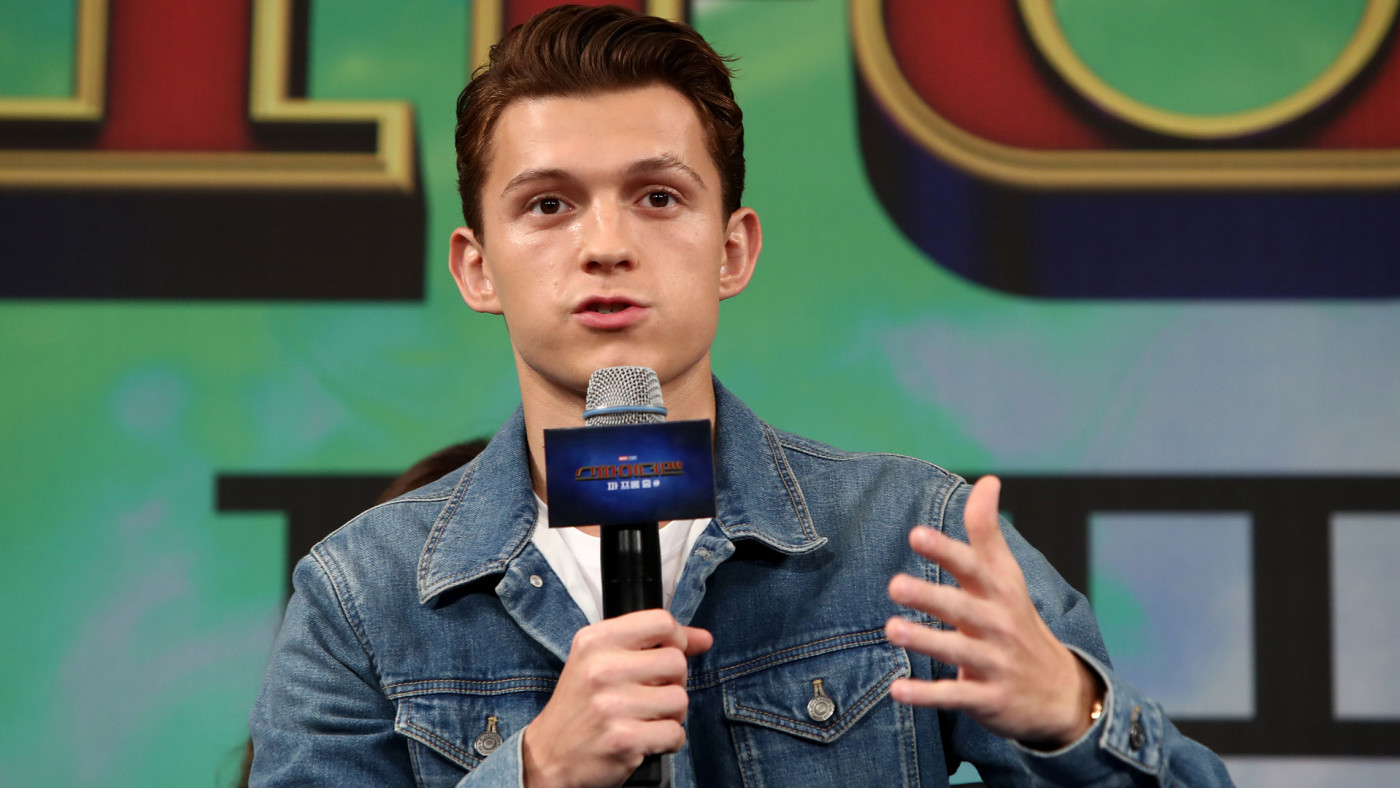 Tom Holland attends the press conference for the South Korean premiere of 'Far From Home.'