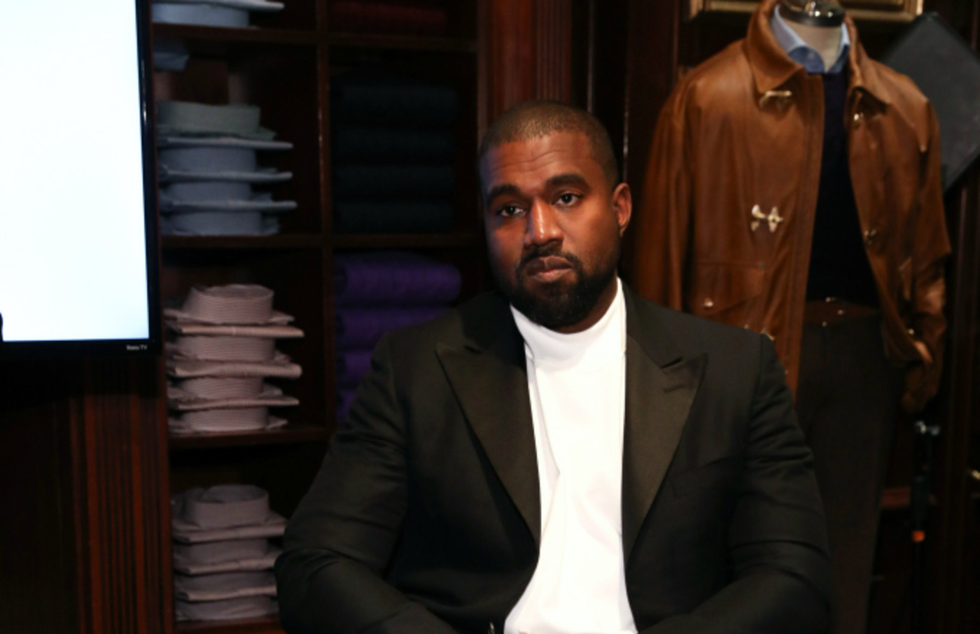 Kanye West attends Jim Moore Book Event At Ralph Lauren
