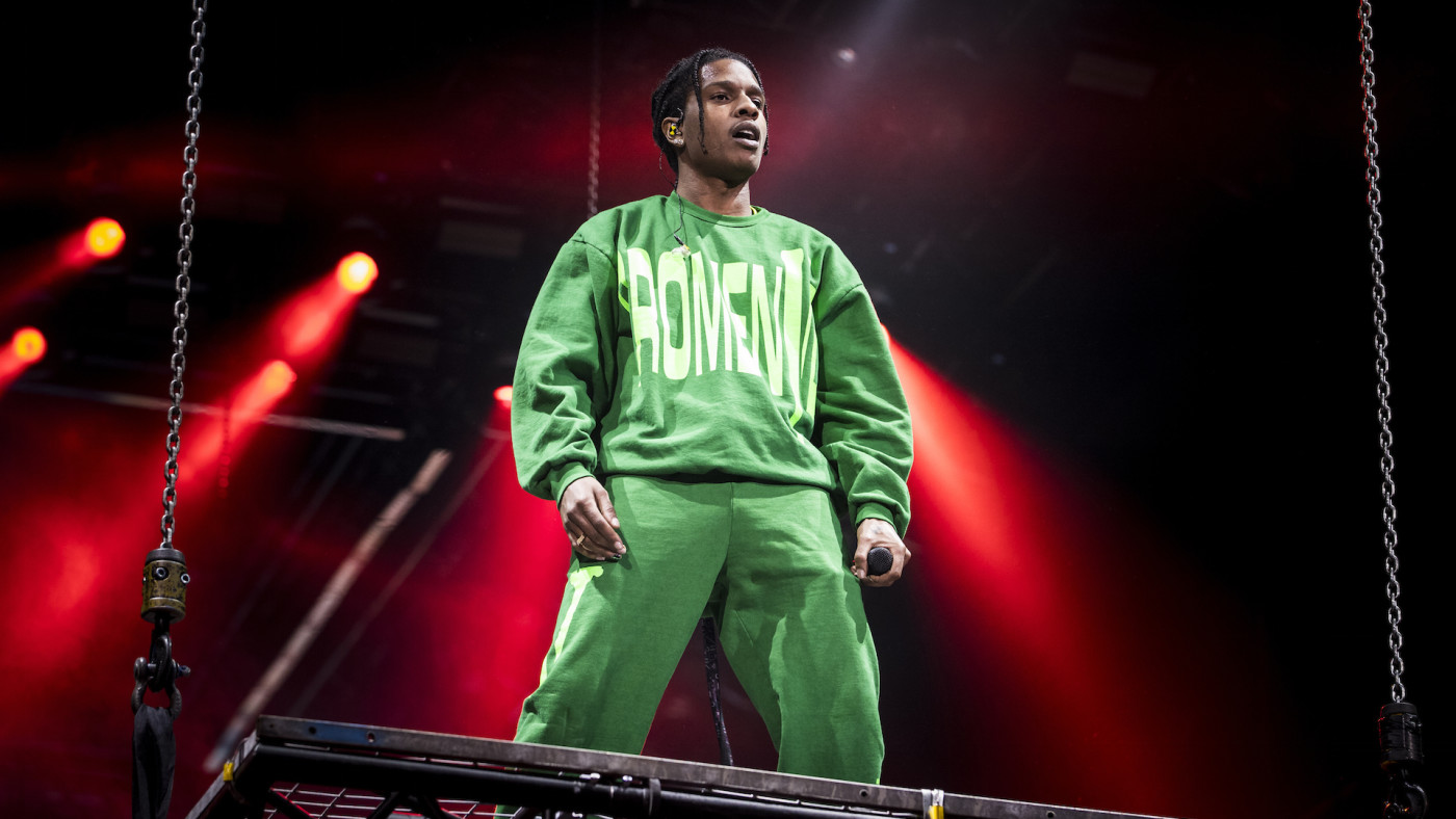 A$AP Rocky performs live in concert at the Ericsson Globe Arena