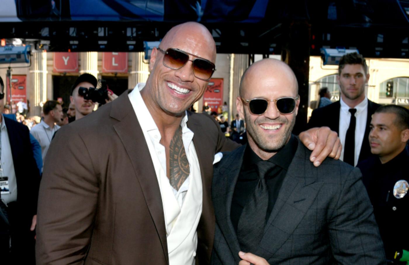Dwayne Johnson (L) and Jason Statham