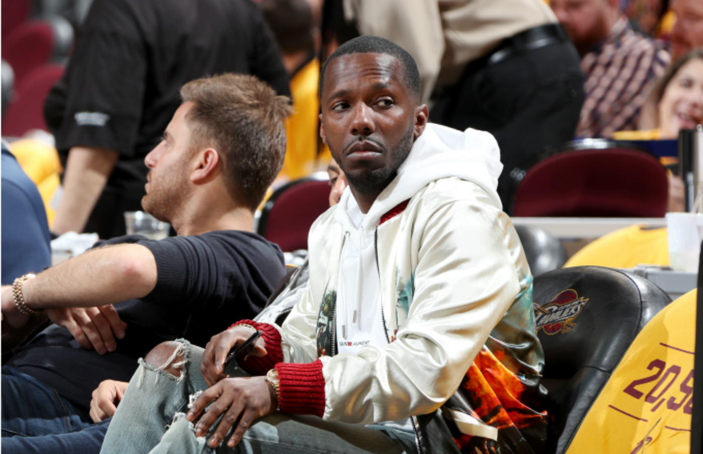 Rich Paul attends the game between the Boston Celtics and the Cleveland Cavaliers