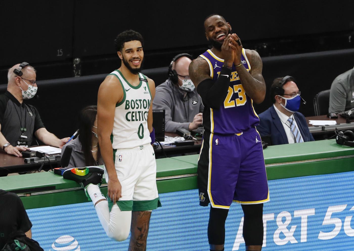 Jayson Tatum LeBron James Celtics Lakers Boston 2021
