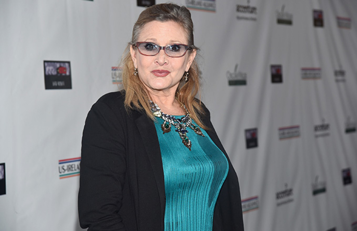 This is a photo of Carrie Fisher.