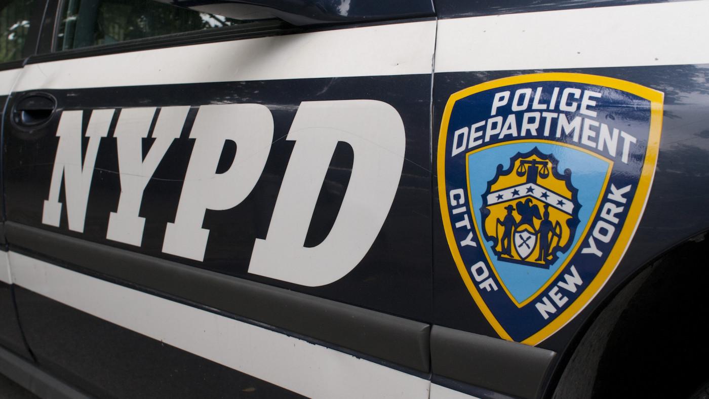NYPD car in Manhattan New York. Police car.