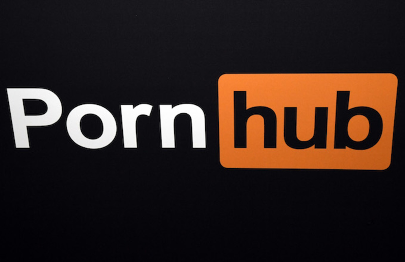 Pornhub logo is displayed at the company's booth at the 2018 AVN Adult Entertainment Expo.