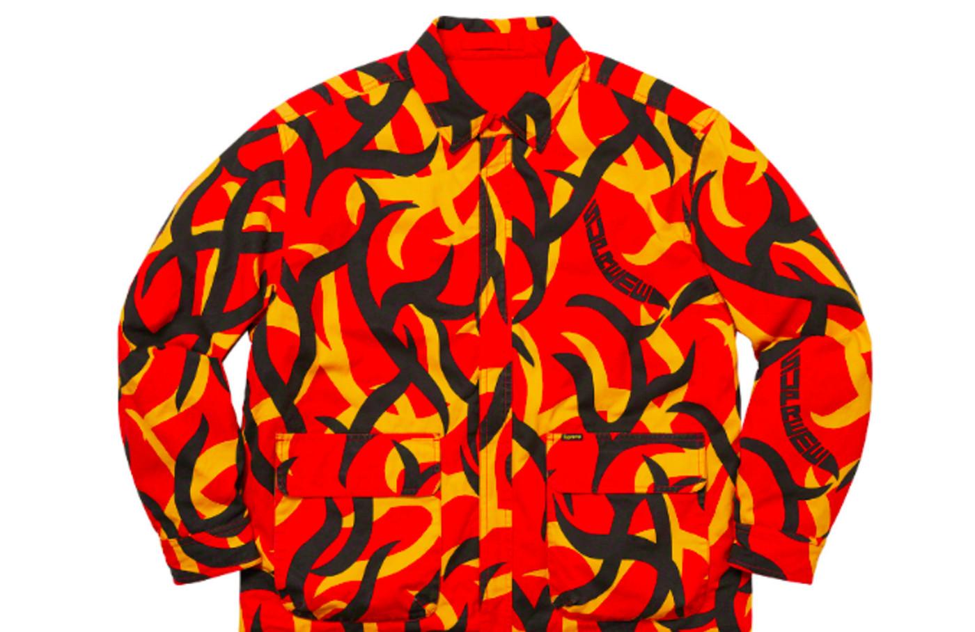 Supreme reversible puffy work jacket