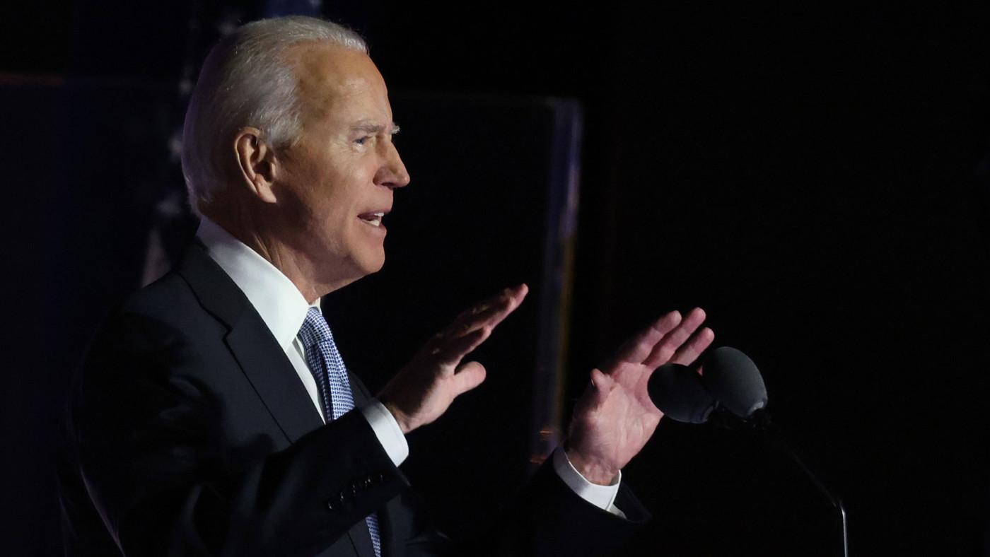 Joe Biden addresses nation after election win.