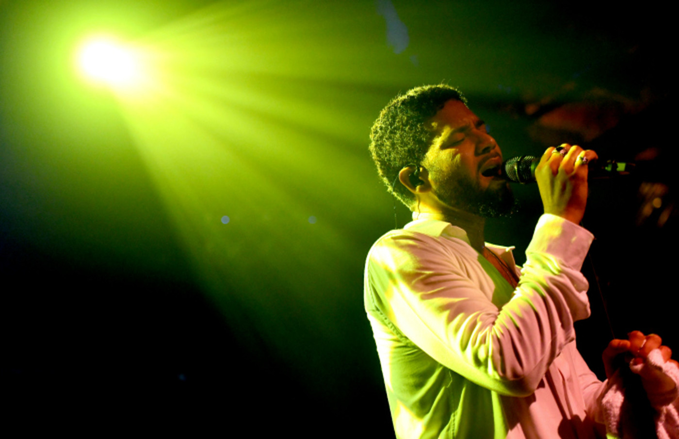 Singer Jussie Smollett performs onstage at Troubadour
