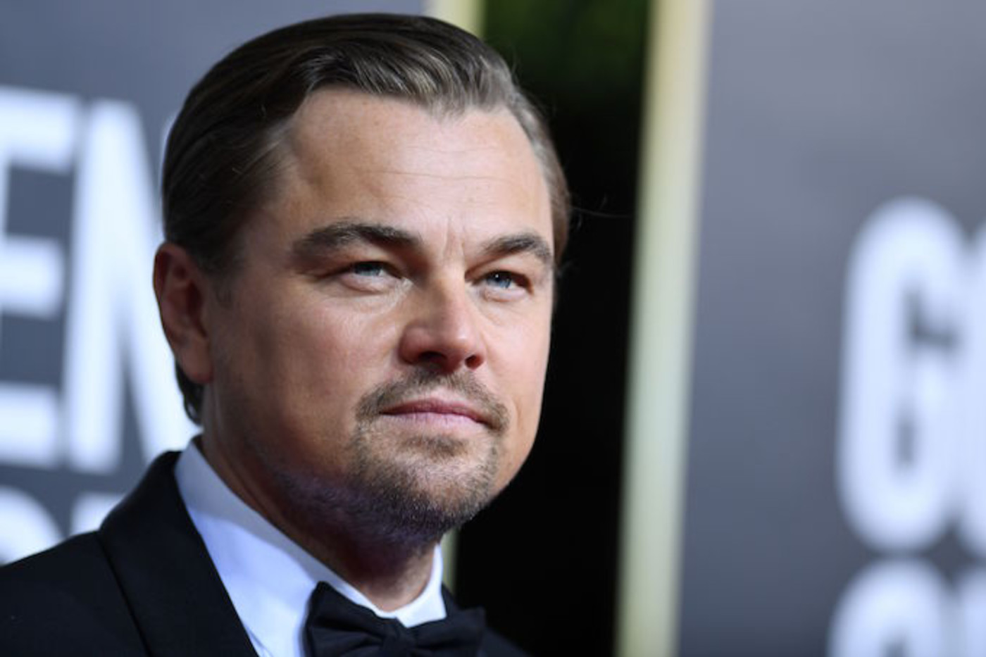 Leonardo DiCaprio arrives for the 77th annual Golden Globe Awards.