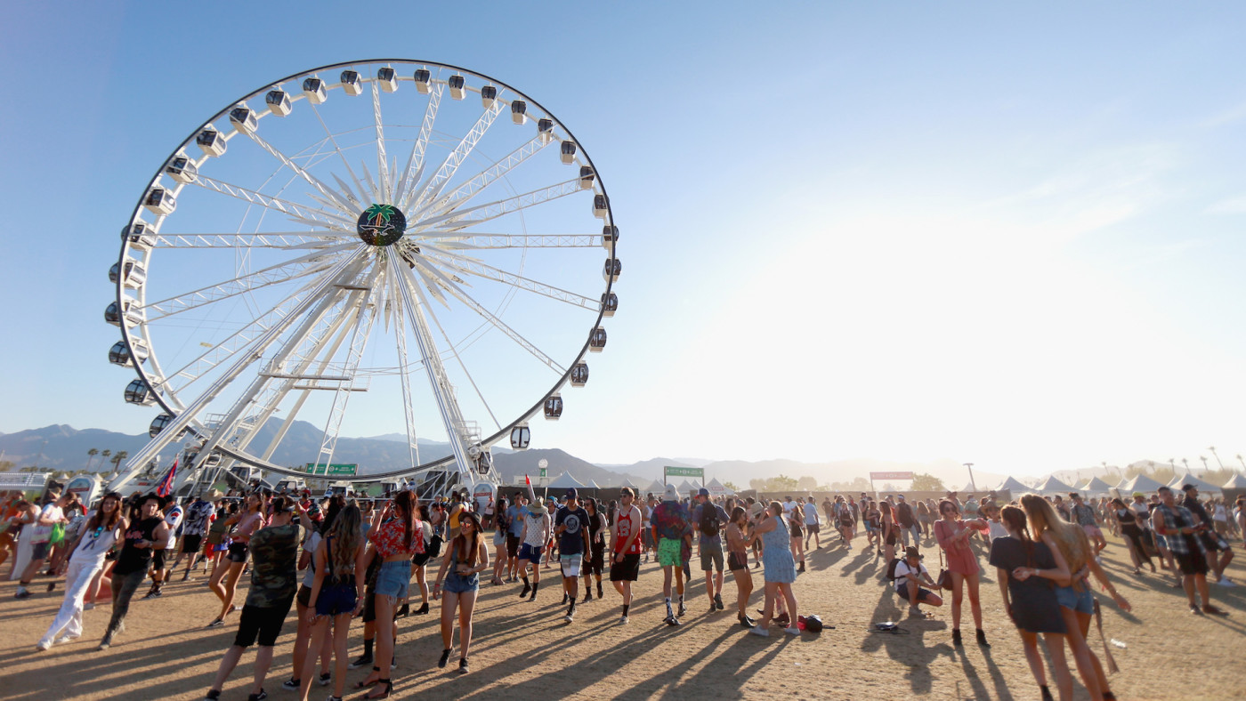 The Ferris Wheel is seen during day 2 of the 2017 Coachella Valley Music & Arts Festival.