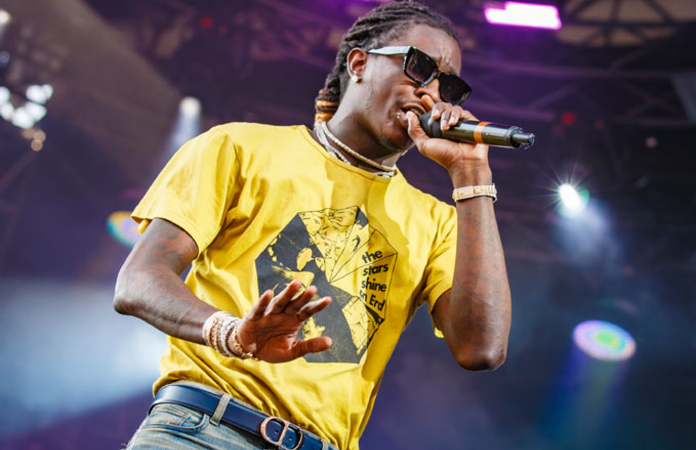 Young Thug performs