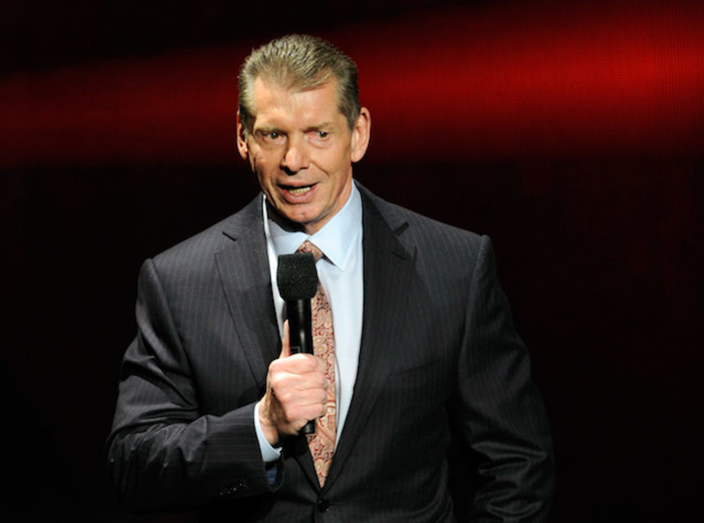 This is a picture of Vince McMahon.
