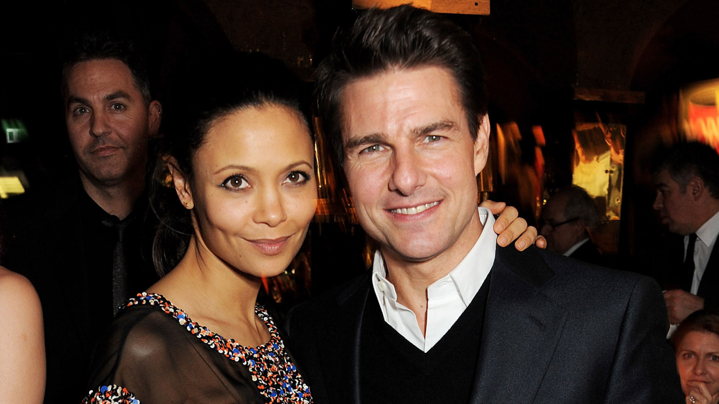 Thandie Newton and Tom Cruise attend a pre-BAFTA dinner.