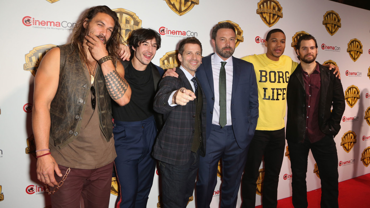 Zack Snyder and 'The Justice League' cast at CinemaCon 2017.