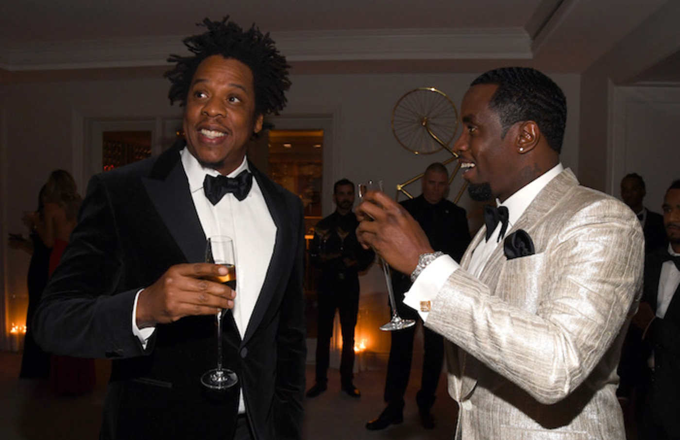 Jay-Z and Sean Combs attend Sean Combs 50th Birthday Bash.