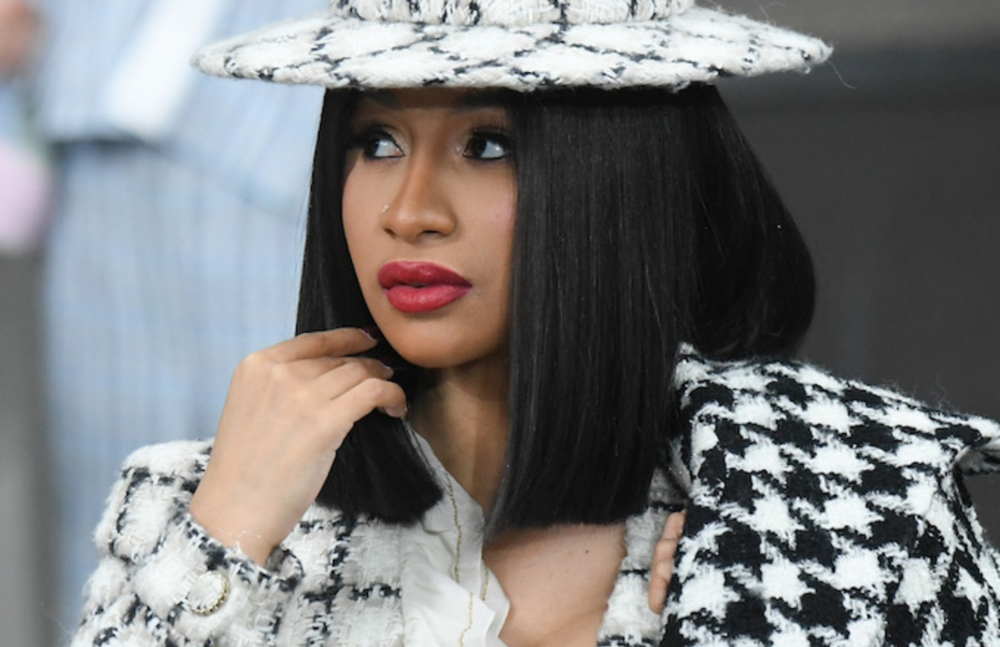 Cardi B attends the Chanel Womenswear Spring/Summer 2020 show.