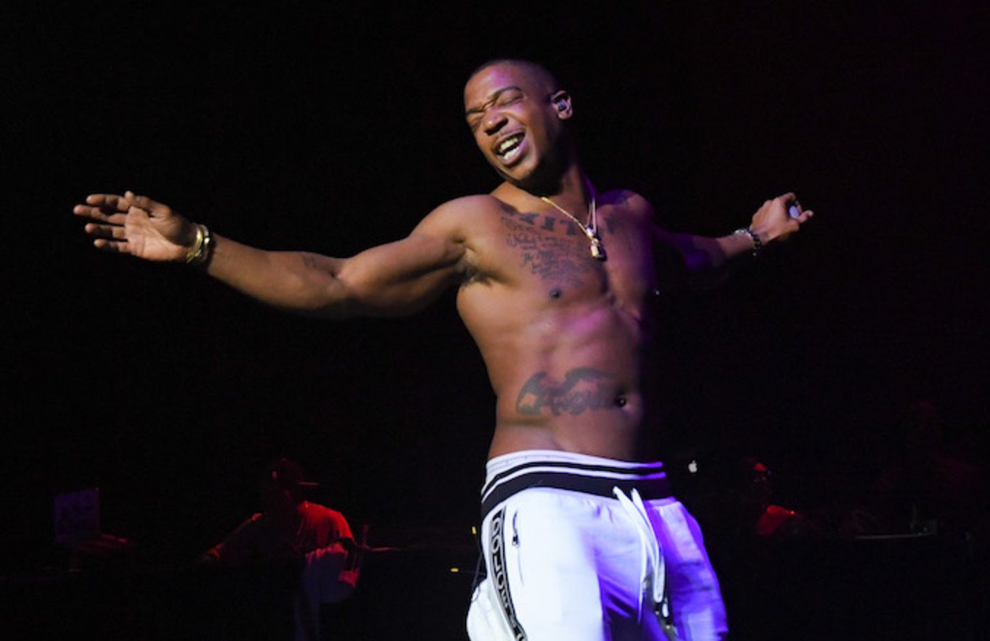 Ja Rule performs during Q 100.5's Nightmare on Q Street at the Orleans Arena.