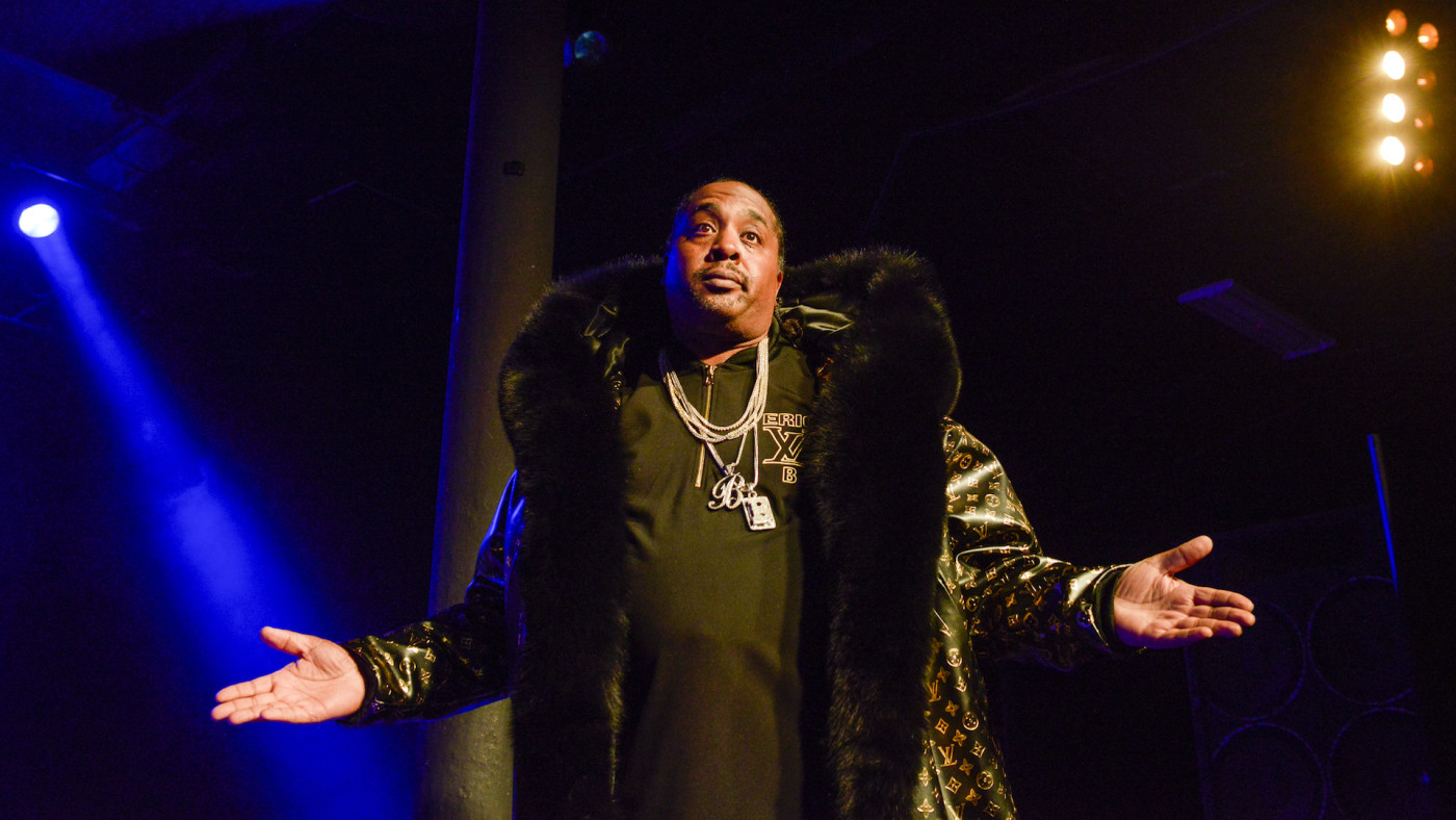 Eric B of Eric B and Rakim performs on stage