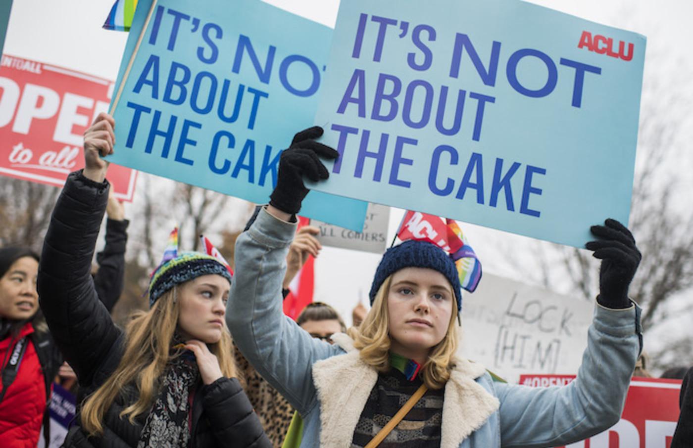 Supreme Court Cake Protest