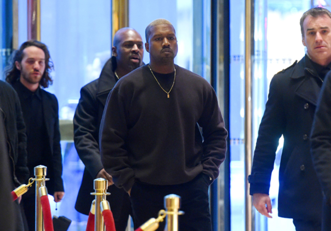 Kanye West meets Donald Trump at Trump Tower