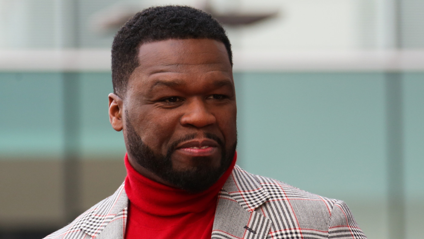 "Curtis ""50 Cent"" Jackson attends ceremony honoring him with a star on the Hollywood Walk of Fame."